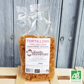 Tortillons 100% blé dur bio