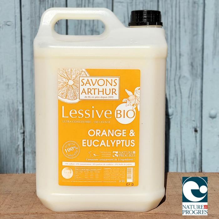 Lessive bio Orange & Eucalyptus 5L