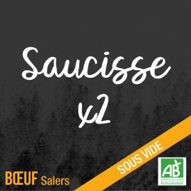 Saucisse. Boeuf Salers bio