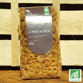"""Pâtes bio - """"La pâte à crête"""" - Les É-Pâtes-Antes (500g)"""